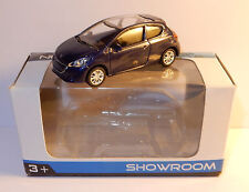 RARE NOREV 3 INCHES 1/54 PEUGEOT 208 BLEU FONCE / VIOLET IN BOX