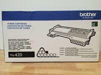 Genuine Brother TN-420 Black Toner Fax Cartridge Factory Sealed Box OEM NEW