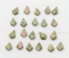 Natural UNAKITE pointed tear drop bead 7mm(w) x 10.5mm(l) - 21 beads