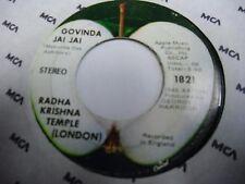 Radha Krishna Temple Govinda Jai Jai 45 rpm Apple George Harrison Beatles VG-