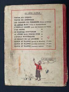 EO - Tintin - Le Secret de la Licorne - A20 - 1943 - Dos Blanc