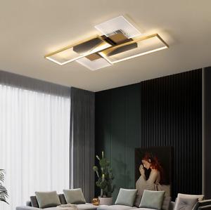 Modern Dimmable Lighting Ceiling Lamp Flush Mount Light Square Chandelier Remote