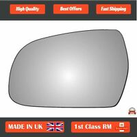 Left Passenger Side Convex Wing Mirror Glass for Audi A4 2010-2015 380LS