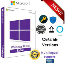 Microsoft Windows 10 Pro Professional ✔️ 32 & 64 Bit Product-Key Lizenz ✔