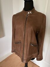 Banana Republic Women's Brown Distressed Leather Motorcycle Jacket Sz. L - Rare!