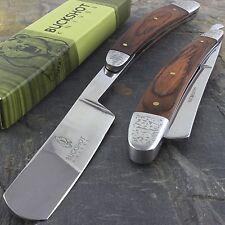 "10"" STRAIGHT EDGE FOLDING STEEL RAZOR WOOD HANDLE Shaving Knife Barber Beard"