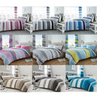 Striped Duvet Quilt Cover Set Double Single Super King Size Pillowcases Printed