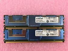 4GB Kit (2x 2GB) PC2-5300 DDR2-667MHz ECC Fully Buffered Crucial CT25672AF667
