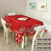Waterproof Polyester Christmas Tablecloth Dinner Xmas Party Cover Home Decor US