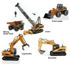 Huina RC Construction Vehicle Toys Loader Excavator Dump Truck Log Grabber Crane