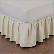 """1 BEDDING DRESSING BED PLEATED SKIRT WITH OPEN CORNERS 14"""" INCH DROP SIZE QUEEN"""