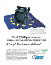 Publicite ADVERTISING 1990 egt phone car