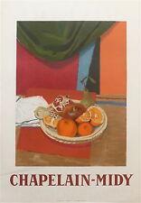 Roger Chapelain-Midy affiche litho nature morte  Prix Carnegie  P 281