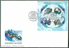 SOLOMON ISLANDS  2013 MINERALS   SHEET FIRST DAY COVER