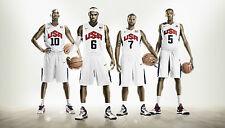 USA BASKETBALL LONDON 2012 DREAM TEAM STARS POSTER LEBRON JAMES KOBE BRYANT