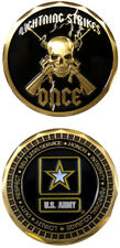 ARMY LIGHTNING STRIKES ONCE GOLD SKULL CHALLENGE COIN