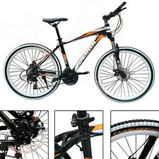 26 '' Mountain Aluminum Bike Bicycle Alloy Frame 21 Gears Disc Brakes Cycling