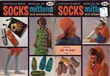 KNIT Crochet PATTERNS Socks MITTENS Accessories BERET Garter CLOCHE Scarf