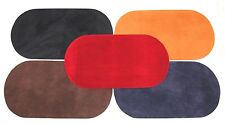 Oval Shape Faux Suede Elbow/Knee Patches x 2 Iron on, Washable Choice of Colours