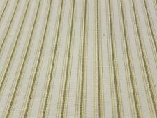 Green Stripe natural white fabric Upholstery General Sewing  2 Yard