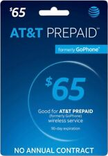 AT&T - AT&T Prepaid $65 Refill Top-Up Prepaid Card , AIR TIME  PIN / RECHARGE