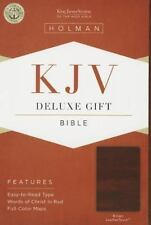 KJV Deluxe Gift Bible, Brown LeatherTouch .. NEW