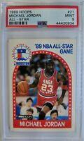 1989 89 HOOPS All-Star Michael Jordan #21, Graded PSA 9 Mint !