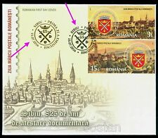 2016 Sibiu city,Fortress,Hermannstadt,Coat of Arms,Stamp Day,Romania,7094,sp.FDC