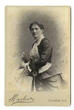 19th Century Fashion - 1800s Cabinet Card - Harlow of Claremont, New Hampshire