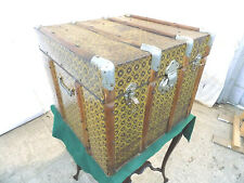 More details for 20thc,metal,square,coffer,ottoman,side,end,table,box,chest,blanket,storage,trunk