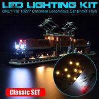 Classic LED Beleuchtung Set Für LEGO 10277 Crocodile Locomotive Car Light Kit