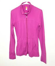 Lucy Womens Athletic Jacket Running Yoga Long Sleeve Full Zip Pink Sz Small