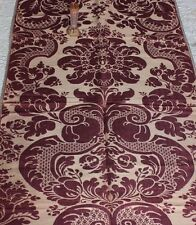 """Beautiful French Antique Mauve Frame 19thC Sik Brocatelle Fabric~1yd15""""Lx26""""W"""