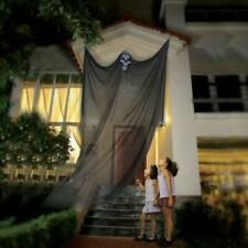 Halloween Hanging Decorations Props Scary Skull Ghost Curtain Outdoor PartyBlack