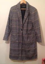 miss selfridge 10 Long Coat Black White Used MISS SELFRIDGE LONG COAT SIZE 10