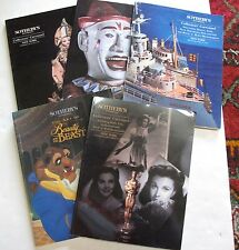Lot 5 Sotheby's Art Auction Catalogues Animation Dolls Banks Jukeboxes Hollywood
