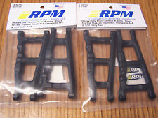 2 RPM 80702 Front Rear Black A-Arms /Fits Traxxas 4x4 Slash Stampede & Rally 4wd