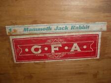 Rare Vintage Wooden Wood One Mammoth Jack Rabbit Box W/Lid
