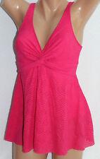 *Swim Solutions Pink Twist Fly Away One Piece Swimdress Swimsuit Sz 12 #S30