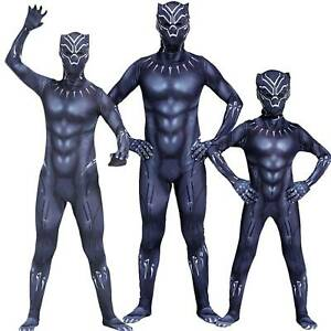 Kids Boys Black Panther Cosplay Superhero Party Fancy Dress Costume Outfit Gift