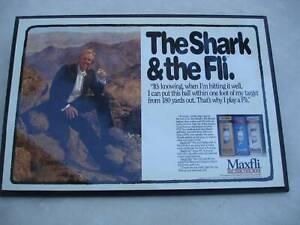 "Golf Memorabilia - ""The Shark & the Fli"" Mounted Maxfli Promo Piece"
