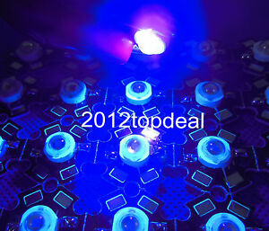 10pcs 3W UV Ultra Violet Hihg power LED 3Watt LED 395-405nm with 20mm Star Base