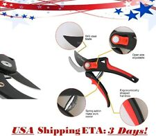 """Flora Guard 8"""" Inch Professional Adjustable Grip Anvil Bypass Pruning Shears USA"""