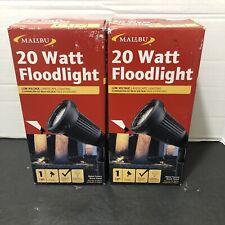 (2)Malibu 8301-9602-01 Floodlight Uplight Portable Light w/ 20 Watt MR Bulb NEW
