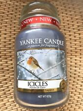 Yankee Candle retired htf Icicles Robin large jar 2014 pour