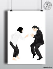PULP FICTION - Minimalist Movie Poster Posteritty Minimal Art Print Dance finger
