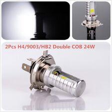 H4/9003/HB2 Double COB 24W Power LED Super White Motor Car Headlight, DC12V 2Pcs