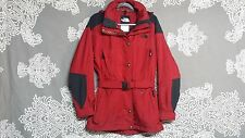 The North Face Women's Solid Red Stylish Mid-Waist Belt Winter Coat/Jacket Sz 6