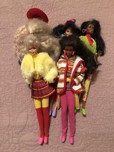 Lot de 5 Barbies benetton de1991 en tenue et bon état avec des tenues benetton
