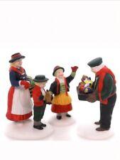 Dept. 56 The Toy Peddler Set of 3 Retired 1998 Alpine Village 56162